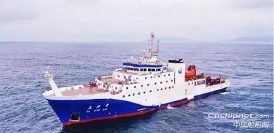 """中国自主研制4000吨级科考船""""大洋号""""首次综合海试"""