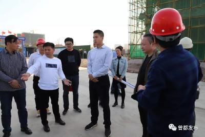 姜皓调研项目建设情况