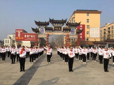 """新时代文明实践在随县——""""我和我的祖国""""湖北省广场舞乡镇展演均川火爆开舞"""