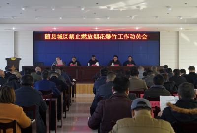 随县城区禁止燃放烟花爆竹工作动员会召开