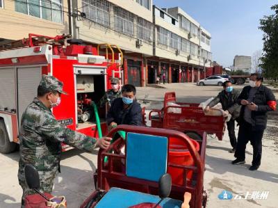 唐县镇启用消防车送水解民忧