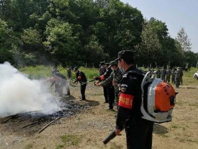 千年银杏谷景区开展森林防灭火演练