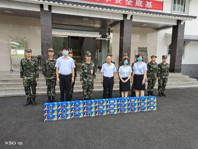 """广水电信公司开展""""八一""""慰问活动"""