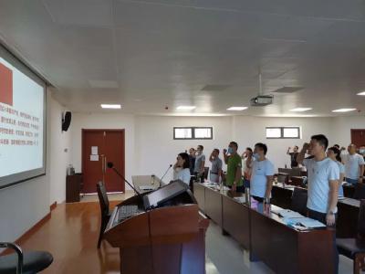 曾都区2020年夏季乡科级干部培训班临时党支部开展8月份主题党日活动