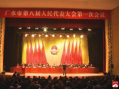广水市第八届人民代表大会第一次会议隆重开幕