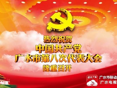 热烈祝贺中国共产党广水市第八次代表大会隆重召开