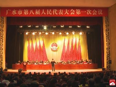 广水市第八届人民代表大会第一次会议举行第二次全体会议