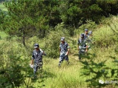 """""""空降排""""赛事第7天 两个小时,六国参赛队员跑遍了40平方公里的山地"""
