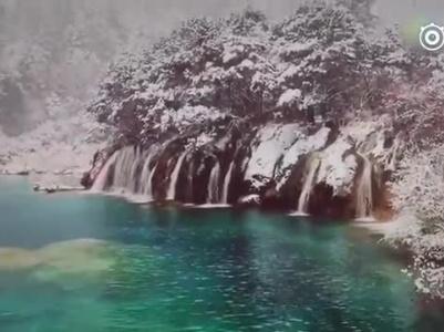 震后九寨沟:美丽的火花海没水了
