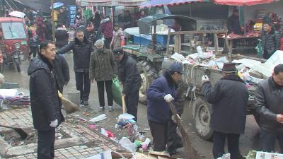 長嶺鎮開展集鎮環境整治工作