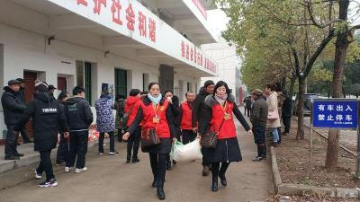 """广水市开展""""寒冬送温暖 救助在行动""""活动"""