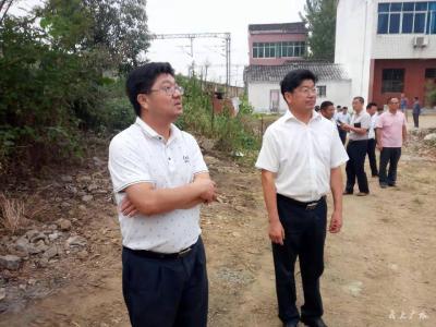 黄继军 田涛再次督办检查铁路沿线环境整治工作