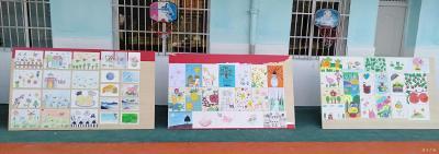 關廟鎮中心幼兒園開展繪畫展