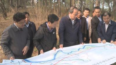 """周汉奎到广水市调研指导""""引徐济安""""饮水工程进展情况"""