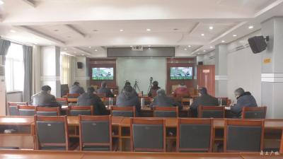 """广水市组织收看""""随州市疫情防控工作指挥部疫情防控调度工作""""电视电话会议"""