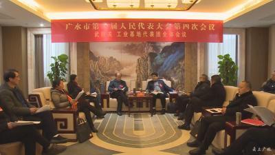 黄继军到武胜关、工业基地代表团参加讨论