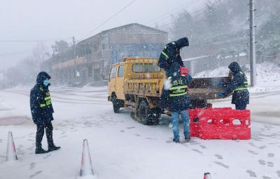 广水市公路管理局:风雪中坚守防疫一线