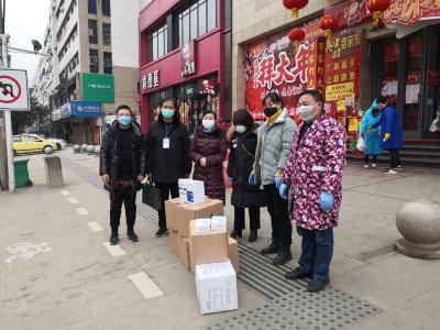 市科技经信局携广水市颐美瑞医疗器械公司捐赠防护物资