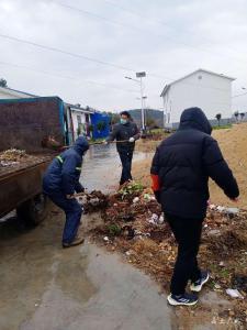 蔡河鎮:保潔員堅守一線 阻擊疫情