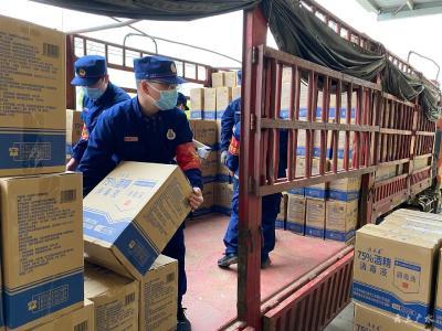 廣水消防:緊急轉運物資  助力防疫攻堅戰
