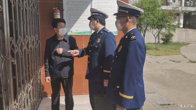 广水市消防救援大队:开展消防安全指导  助推学校复学复课