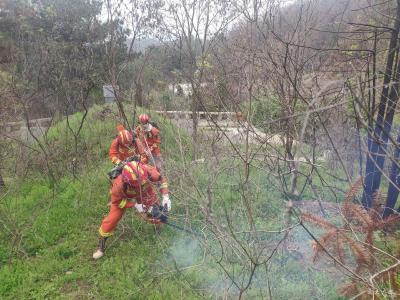 广水市消防救援大队开展森林火灾处置拉动演练活动