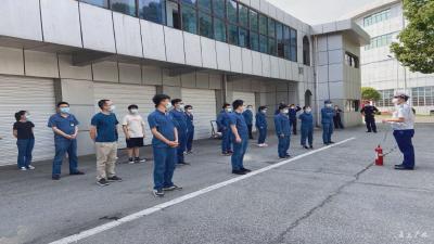 市消防救援大队组织湖北中烟工业有限公司员工  开展消防安全培训演练