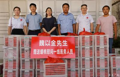 魏以金向广水一医院抗疫天使捐赠800余斤蟠桃