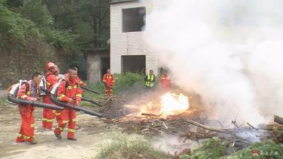 廣水市林業系統開展森林防滅火培訓演練