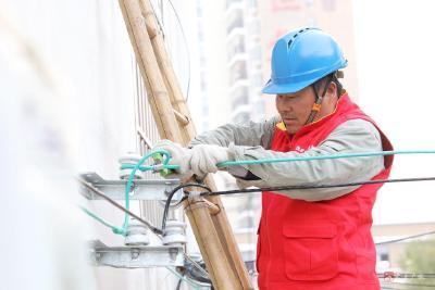 广水市供电公司为下沉社区义务进行下火线整改