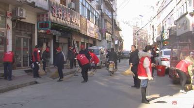 東關社區組織轄區黨員開展衛生清掃活動