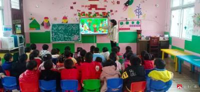 蔡河鎮北街幼兒園開展森林防火教育主題班會
