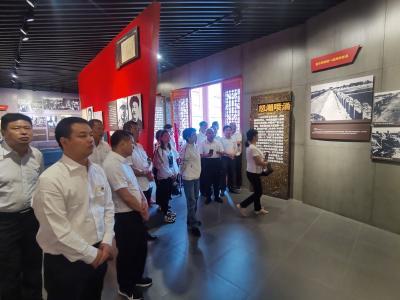 長嶺鎮組織全體黨員干部到洛陽鎮九口堰紅色教育基地參觀學習