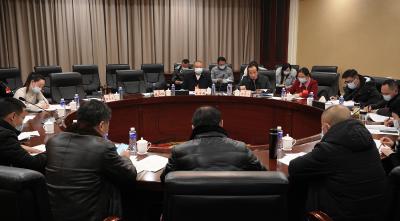 金安翔参加中共、工会、共青团、妇联界委员讨论会