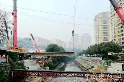 夷陵区人寿桥路跨罗家小河桥改造工程取得重大进展