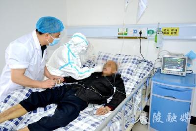 黄花镇卫生院为住院患者开展核酸检测
