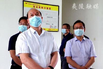 湖北省应急管理厅副厅长杨爱东来夷陵区调研应急管理工作