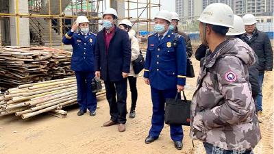 夷陵消防联合住建部门开展在建工地消防安全专项检查
