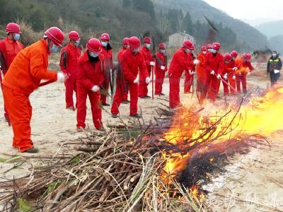 未雨绸缪!夷陵区开展冬季森林火灾应急演练活动