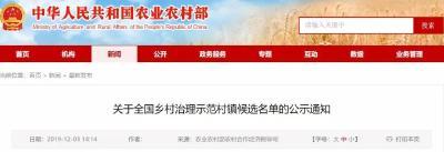 全国乡村治理示范村镇候选名单出炉,襄州这个村榜上有名