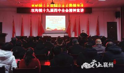 双沟镇召开党的十九届四中全会精神宣讲会
