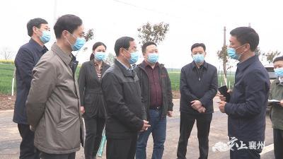 市领导调研襄州区春季国土绿化工作