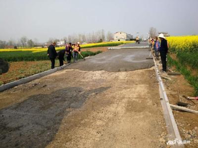 襄州区首条农村公路建设项目复工