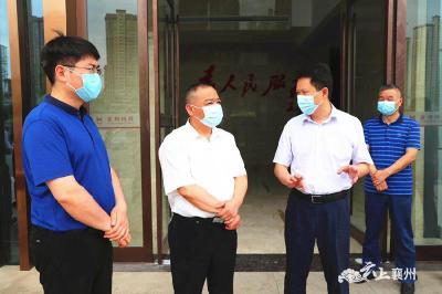 """市领导胡和平到襄州区调研""""两个中心""""建设情况"""