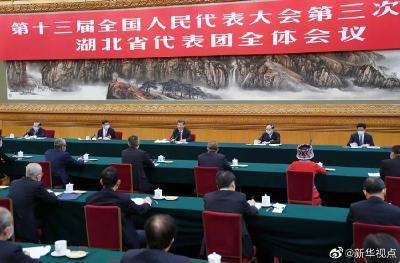 习近平在参加湖北代表团审议时强调:整体谋划系统重塑全面提升 织牢织密公共卫生防护网