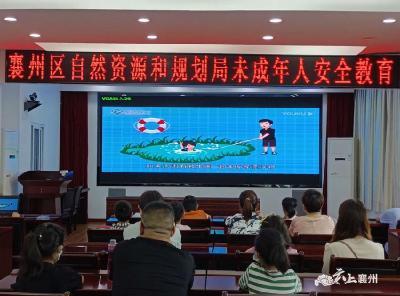襄州区自然资源和规划局开展未成年人安全教育活动