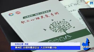黄州区:心理关爱进企业 人文关怀暖人心