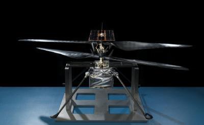 NASA火星直升机完成飞行测试:仅1.8公斤 双旋翼转速达2800转/分