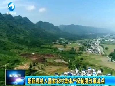 阳新县纳入国家农村集体产权制度改革试点