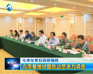 马涛在黄石调研强调:高质量做好国防动员潜力调查